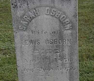 OSBORN, SARAH - Erie County, Ohio   SARAH OSBORN - Ohio Gravestone Photos