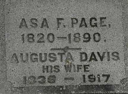 PAGE, AUGUSTA - Erie County, Ohio   AUGUSTA PAGE - Ohio Gravestone Photos