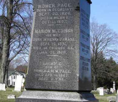 PAGE, MARION W. - Erie County, Ohio | MARION W. PAGE - Ohio Gravestone Photos