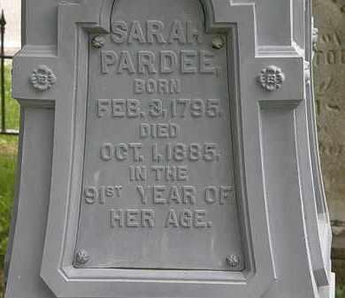 PARDEE, SARAH - Erie County, Ohio   SARAH PARDEE - Ohio Gravestone Photos