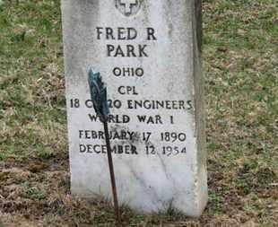 PARK, FRED R. - Erie County, Ohio | FRED R. PARK - Ohio Gravestone Photos