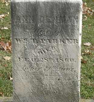 DENMAN PARKER, ANN - Erie County, Ohio | ANN DENMAN PARKER - Ohio Gravestone Photos
