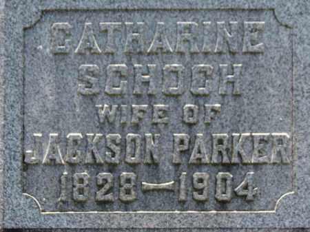 SCHOCH PARKER, CATHARINE - Erie County, Ohio   CATHARINE SCHOCH PARKER - Ohio Gravestone Photos