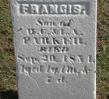 PARKER, FRANCIS - Erie County, Ohio   FRANCIS PARKER - Ohio Gravestone Photos