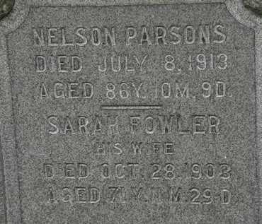 PARSONS, NELSON - Erie County, Ohio | NELSON PARSONS - Ohio Gravestone Photos