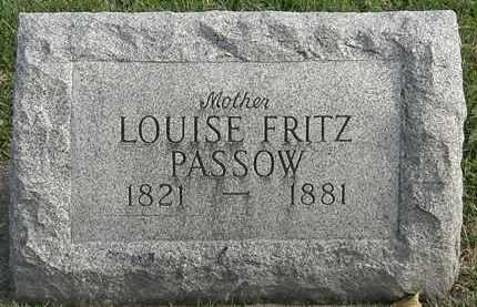 PASSOW, LOUISE FRITZ - Erie County, Ohio   LOUISE FRITZ PASSOW - Ohio Gravestone Photos