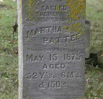 PATTEE, MARTHA A. - Erie County, Ohio | MARTHA A. PATTEE - Ohio Gravestone Photos