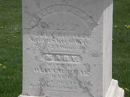 PEAK, OLIVER - Erie County, Ohio | OLIVER PEAK - Ohio Gravestone Photos