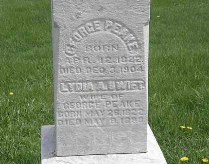 PEAKE, LYDIA A. - Erie County, Ohio | LYDIA A. PEAKE - Ohio Gravestone Photos