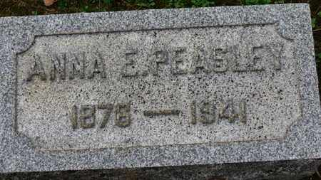 PEASLEY, ANNA E. - Erie County, Ohio   ANNA E. PEASLEY - Ohio Gravestone Photos