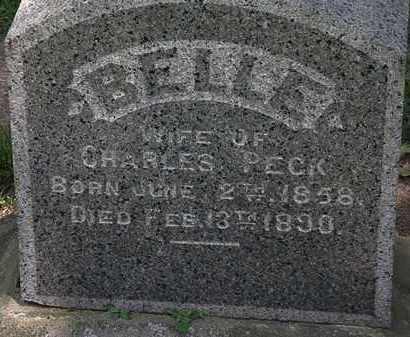 PECK, BELLE - Erie County, Ohio   BELLE PECK - Ohio Gravestone Photos