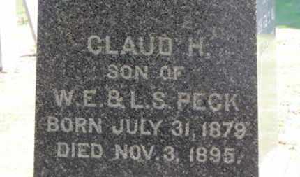 PECK, CLAUD H. - Erie County, Ohio | CLAUD H. PECK - Ohio Gravestone Photos
