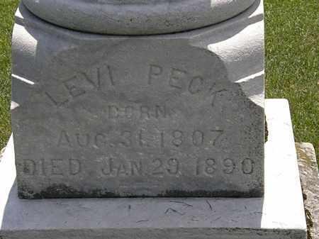 PECK, LEVI - Erie County, Ohio   LEVI PECK - Ohio Gravestone Photos