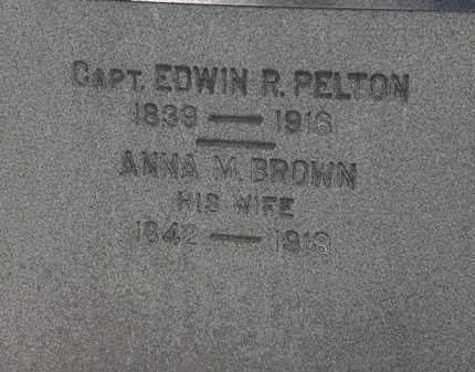 BROWN PELTON, ANNA M. - Erie County, Ohio | ANNA M. BROWN PELTON - Ohio Gravestone Photos