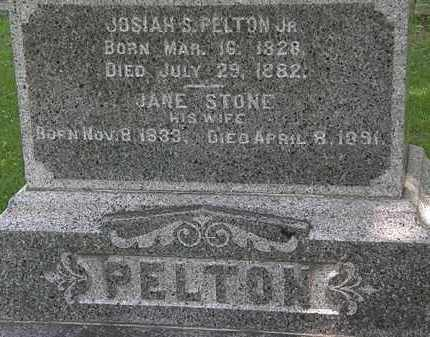 PELTON, JOSIAH S. - Erie County, Ohio | JOSIAH S. PELTON - Ohio Gravestone Photos