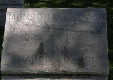 PELTON, MUNSON M. - Erie County, Ohio   MUNSON M. PELTON - Ohio Gravestone Photos