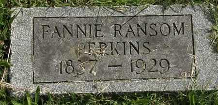 PERKINS, FANNIE - Erie County, Ohio | FANNIE PERKINS - Ohio Gravestone Photos