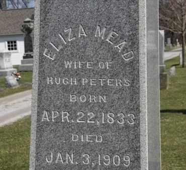 MEAD PETERS, ELIZA - Erie County, Ohio | ELIZA MEAD PETERS - Ohio Gravestone Photos