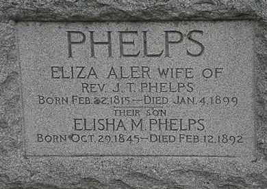 ALER PHELPS, ELIZA - Erie County, Ohio   ELIZA ALER PHELPS - Ohio Gravestone Photos