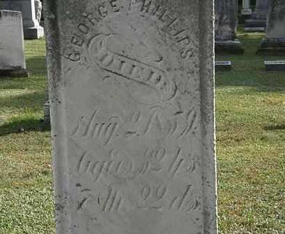 PHILLIPS, GEORGE - Erie County, Ohio | GEORGE PHILLIPS - Ohio Gravestone Photos