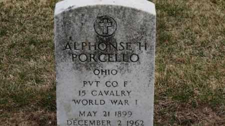 PORCELLA, ALPHONSE H. - Erie County, Ohio | ALPHONSE H. PORCELLA - Ohio Gravestone Photos