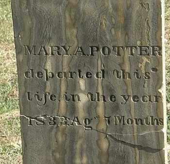 POTTER, MARY A. - Erie County, Ohio | MARY A. POTTER - Ohio Gravestone Photos
