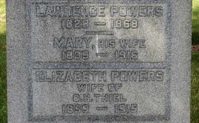 POWERS THIEL, ELIZABETH - Erie County, Ohio | ELIZABETH POWERS THIEL - Ohio Gravestone Photos