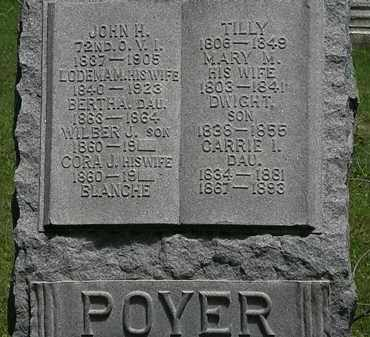POYER, CARRIE I. - Erie County, Ohio | CARRIE I. POYER - Ohio Gravestone Photos