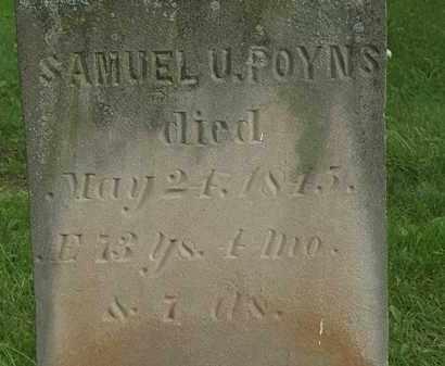 POYNS, SAMUEL U. - Erie County, Ohio   SAMUEL U. POYNS - Ohio Gravestone Photos