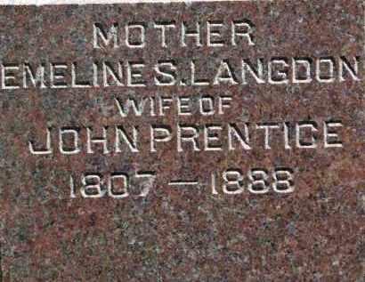 PRENTICE, EMELINE S. - Erie County, Ohio | EMELINE S. PRENTICE - Ohio Gravestone Photos
