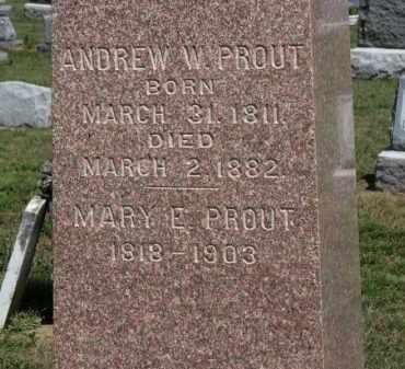 PROUT, ANDREW W. - Erie County, Ohio | ANDREW W. PROUT - Ohio Gravestone Photos
