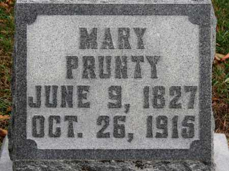 PRUNTY, MARY - Erie County, Ohio | MARY PRUNTY - Ohio Gravestone Photos