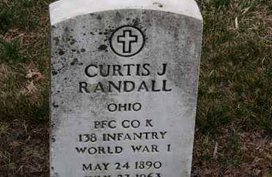 RANDALL, CURTIS J - Erie County, Ohio | CURTIS J RANDALL - Ohio Gravestone Photos