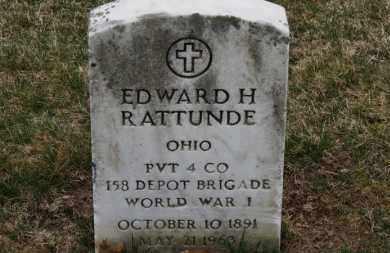 RATTUNDE, EDWARD H. - Erie County, Ohio | EDWARD H. RATTUNDE - Ohio Gravestone Photos