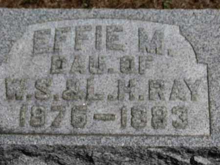 RAY, EFFIE M. - Erie County, Ohio | EFFIE M. RAY - Ohio Gravestone Photos