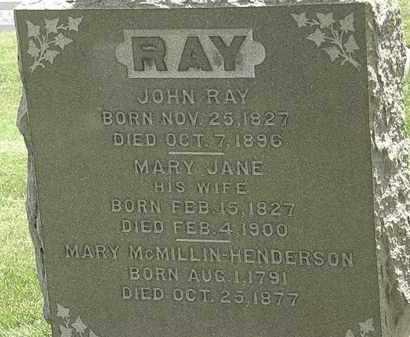 RAY, MARY JANE - Erie County, Ohio | MARY JANE RAY - Ohio Gravestone Photos