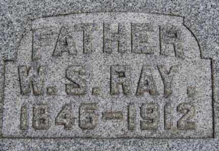 RAY, W.S. - Erie County, Ohio   W.S. RAY - Ohio Gravestone Photos