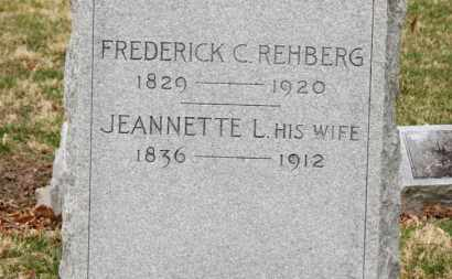 REHBERG, FREDERICK C. - Erie County, Ohio | FREDERICK C. REHBERG - Ohio Gravestone Photos
