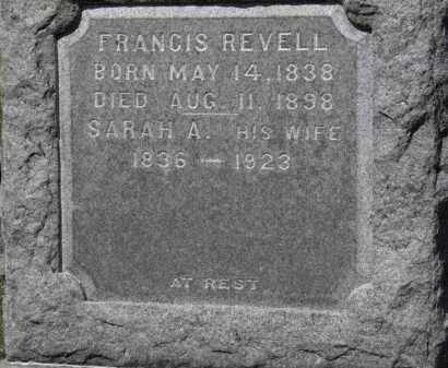 REVELL, FRANCIS - Erie County, Ohio | FRANCIS REVELL - Ohio Gravestone Photos