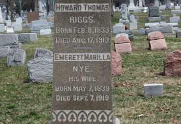 NYE RIGGS, EMERETT MARILLA - Erie County, Ohio   EMERETT MARILLA NYE RIGGS - Ohio Gravestone Photos
