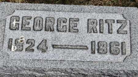 RITZ, GEORGE - Erie County, Ohio | GEORGE RITZ - Ohio Gravestone Photos