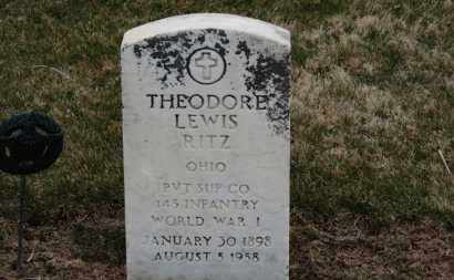 RITZ, THEODORE LEWIS - Erie County, Ohio | THEODORE LEWIS RITZ - Ohio Gravestone Photos