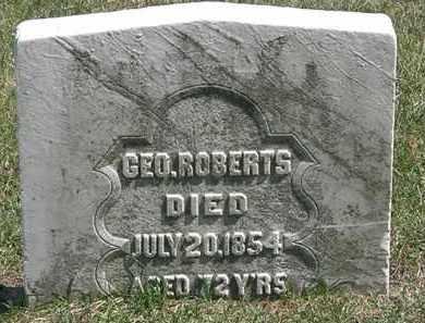 ROBERTS, GEO. - Erie County, Ohio | GEO. ROBERTS - Ohio Gravestone Photos