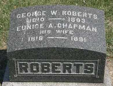CHAPMAN ROBERTS, EUNICE A. - Erie County, Ohio | EUNICE A. CHAPMAN ROBERTS - Ohio Gravestone Photos