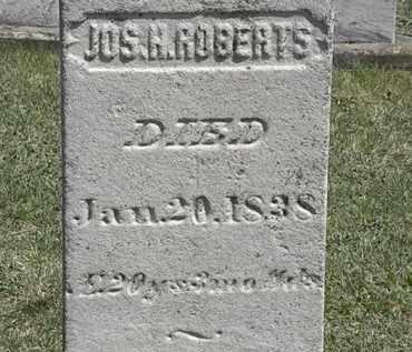 ROBERTS, JOS. H. - Erie County, Ohio | JOS. H. ROBERTS - Ohio Gravestone Photos