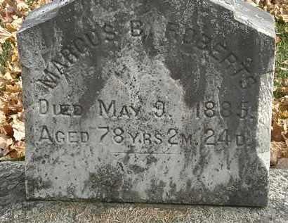 ROBERTS, MARCUS B. - Erie County, Ohio | MARCUS B. ROBERTS - Ohio Gravestone Photos
