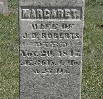 ROBERTS, MARGARET - Erie County, Ohio | MARGARET ROBERTS - Ohio Gravestone Photos