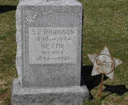 ROBINSON, NETTIE - Erie County, Ohio | NETTIE ROBINSON - Ohio Gravestone Photos