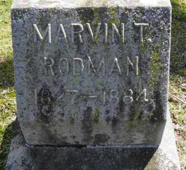 RODMAN, MARVIN T. - Erie County, Ohio   MARVIN T. RODMAN - Ohio Gravestone Photos