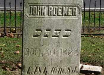 ROEMER, JOHN - Erie County, Ohio | JOHN ROEMER - Ohio Gravestone Photos